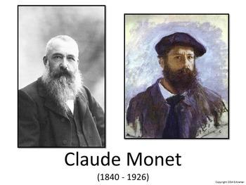 Introducing Monet - Art History, Teaching Script, Activity, & Giveaway Sheet