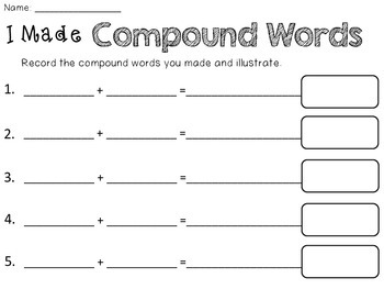 Introducing Compound Words {a freebie}