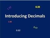 Introducing Decimal Concepts and Reasoning