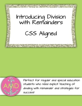 Division with Remainders Introduction- Strategy & Steps for 3rd and 4th Math