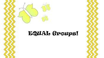 Introducing Equal Groups 3rd Grade Math