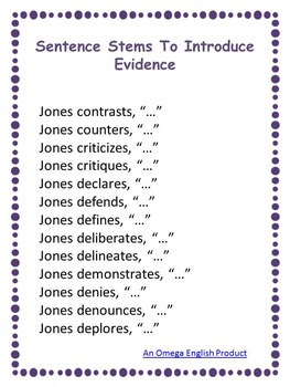 Introducing Evidence: Upper Elementary and Middle School Printable