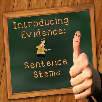 Introducing Evidence: Verbs of Attribution Sentence Stems