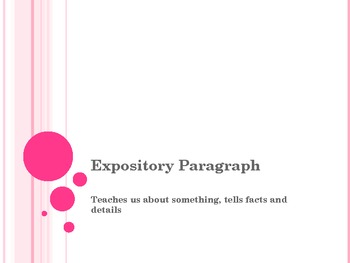 Introducing Expository Paragraph