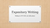 Introducing Expository Writing Power Point