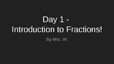 Introducing Fractions! Lesson 1 - 3rd Grade Common Core Based