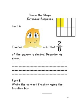 Fractions: Notebook Activities, Worksheets,  & Extended Responses