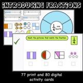 Introducing Fractions-Print and digital activities