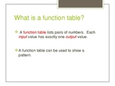 Introducing Function Tables