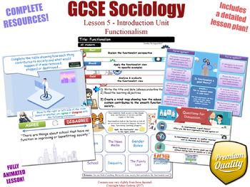 Introducing Functionalism - Introduction Unit L5/12 - GCSE Sociology (KS4)
