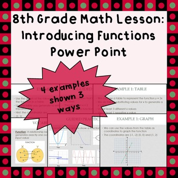 Introducing Functions - A Power Point Lesson