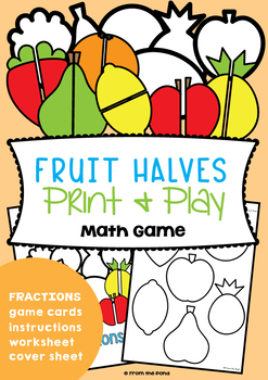 Introducing Halves - A Fractions Math Activities Pack