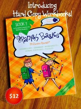 Spanish Basics Hard Copy Workbooks! - Grades 3-6  (10 Pack + Free Shipping!)