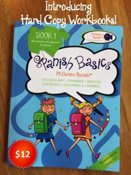 Introducing Hard Copy Workbooks! (SPANISH BASICS K-2)