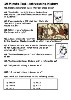 Introducing History Test - Evidence