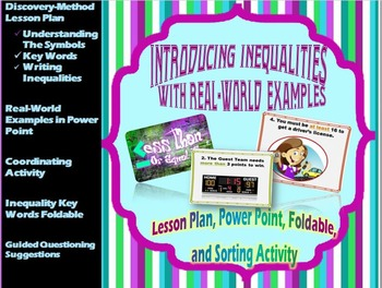 Introducing Inequalities with Real-World Examples