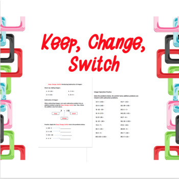 Introducing Integer Subtraction: Keep, Change, Switch