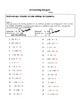 Introducing Integers - 3 Worksheets with Guided and Independent Practice