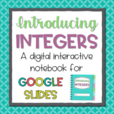 Introducing Integers: A Digital Interactive Notebook for G