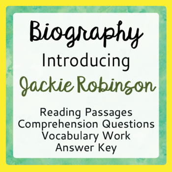 Jackie Robinson Informational Texts and Activities