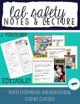 Introducing Lab Safety Station Activity and Notes