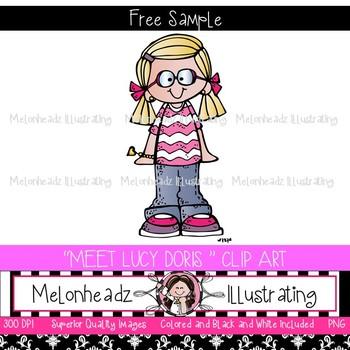Meet Lucy Doris clip art - Freebie- by Melonheadz