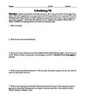 Introducing Me Worksheet