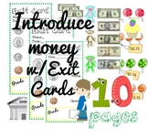 Introducing Money To Kids- Worksheets