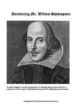 Introducing Mr. William Shakespeare: A 73 Page Unit Containing Weeks of Work