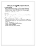 Introducing Multiplication