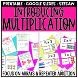 Introducing Multiplication With Arrays, Repeated Addition, & Equal Groups