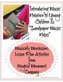 "Introducing Music Notation to Children with Montessori ""Sandpaper Music Notes"""