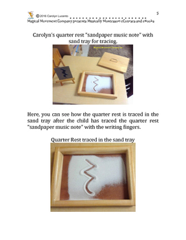 """Introducing Music Notation to Children with Montessori """"Sandpaper Music Notes"""""""