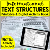 Informational Text Structures Book for Distance Learning