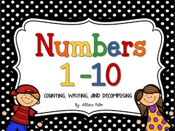 Introducing Numbers 1-10 on the Activboard {counting, writing, & decomposing}