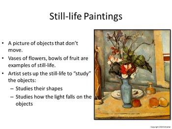 Introducing Cezanne - Art History, Teaching Script, Activity, & Giveaway Sheet