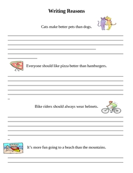 Introducing Persuasive Writing Activity