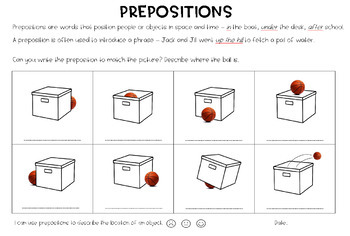 Introducing Prepositions