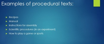 Introducing Procedural How-to Texts