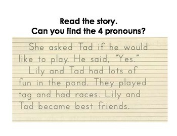 Practicing Identifying and Using Pronouns