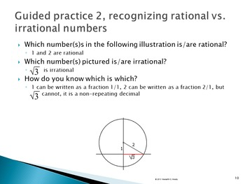 Introducing Rational & Irrational Numbers: Power Point Lesson