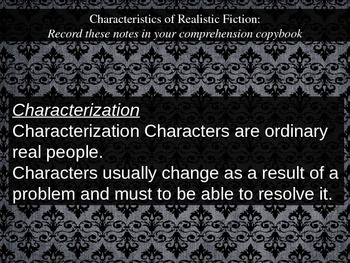 Introducing Realistic Fiction