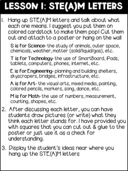 Introducing STEM: Posters, Lessons, and Activities