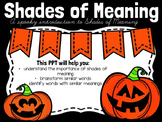 Introducing Shades of Meaning