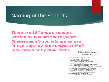 Introducing Shakespeare's Sonnets