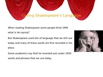 Introducing Shakespeare's Language