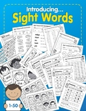 Introducing Sight Words 1-50: A 141-page Printable Activity Packet