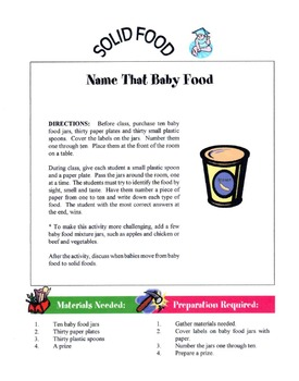 Introducing Solid Foods To A Baby Lesson