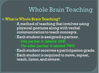 Introducing Students to Whole Brain Teaching