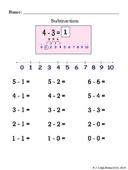 Introducing Subtraction